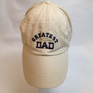 Greatest Dad Adjustable 100% Cotton Tan Cap